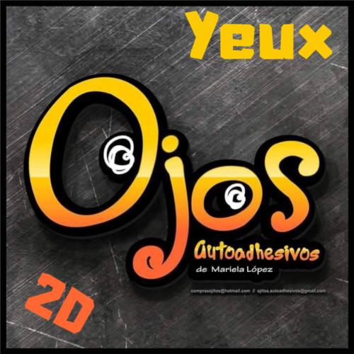 Yeux Auto-Adhésifs Simple 2D